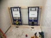 Nieuw sanitair en tegelwerk basisschool