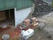 Plaatsen nieuwe buitenmuur stal - Folkertsma metsel- en klusbedrijf Friesland